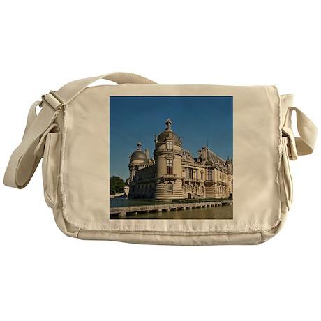 Chantilly castle, Oise France 60x60 Messenger Bag