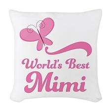 Worlds Best Mimi Woven Throw Pillow
