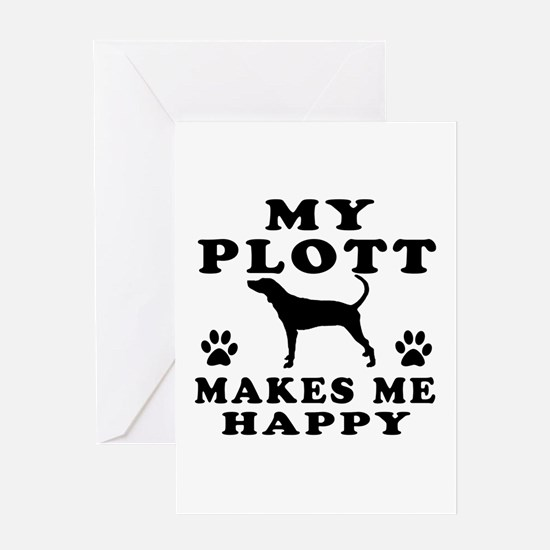 My Plott makes me happy Greeting Card