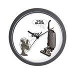 You Suck You Blow Wall Clock