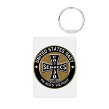 US Navy Seabees Can Do Black Cross Keychains