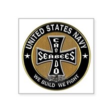 US Navy Seabees Can Do Black Cross Sticker