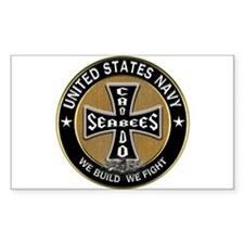 US Navy Seabees Can Do Black Cross Decal