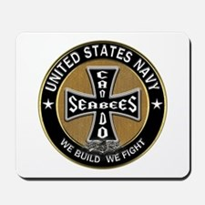 US Navy Seabees Can Do Black Cross Mousepad
