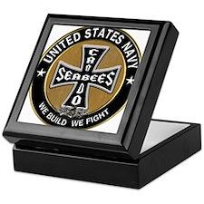 US Navy Seabees Can Do Black Cross Keepsake Box
