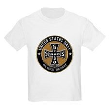 US Navy Seabees Can Do Black Cross T-Shirt