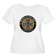 US Navy Seabees Can Do Black Cross Plus Size T-Shi
