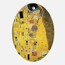 The Kiss by Gustav Klimt Oval Ornament