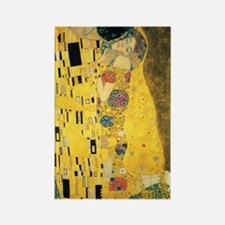 The Kiss by Gustav Klimt Rectangle Magnet