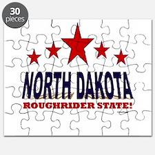 North Dakota Roughrider State Puzzle