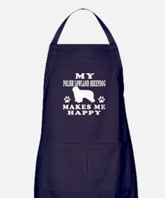 My Polish Lowland Sheepdog makes me happy Apron (d
