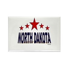 North Dakota Rectangle Magnet