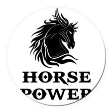 HORSE POWER Round Car Magnet