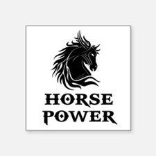 "HORSE POWER Square Sticker 3"" x 3"""