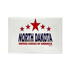 North Dakota U.S.A. Rectangle Magnet