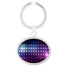 Blue/Purple Glow Oval Keychain