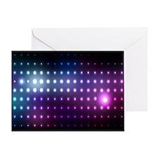 Blue/Purple Glow Greeting Card