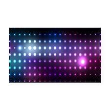 Blue/Purple Glow Rectangle Car Magnet