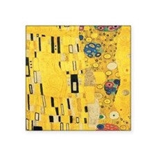 "Klimt the Kiss Pattern Deta Square Sticker 3"" x 3"""