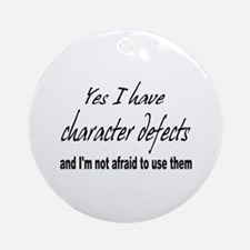 Character Defects Ornament (Round)