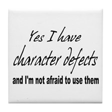 Character Defects Tile Coaster