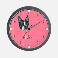Retro Boston (pink) Wall Clock