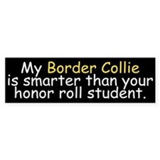 Honor Roll Border Collie Bumper Bumper Sticker