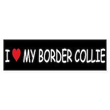 I Love My Border Collie Bumper Bumper Sticker