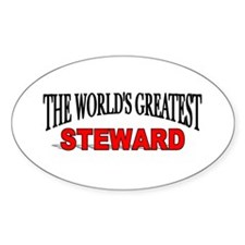 """The World's Greatest Steward"" Oval Decal"