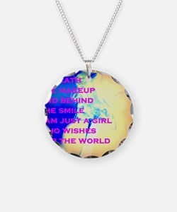 Beneath the Makeup Necklace Circle Charm