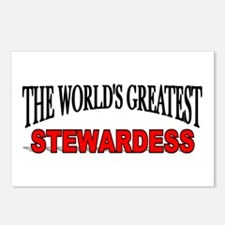 """The World's Greatest Stewardess"" Postcards (Packa"
