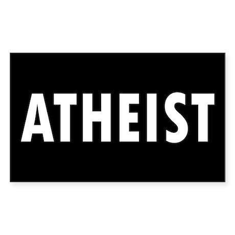 ATHEIST... Rectangle Sticker