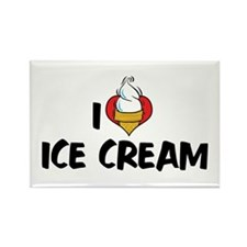 I Love Ice Cream Rectangle Magnet (10 pack)