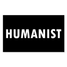 HUMANIST... Rectangle Decal