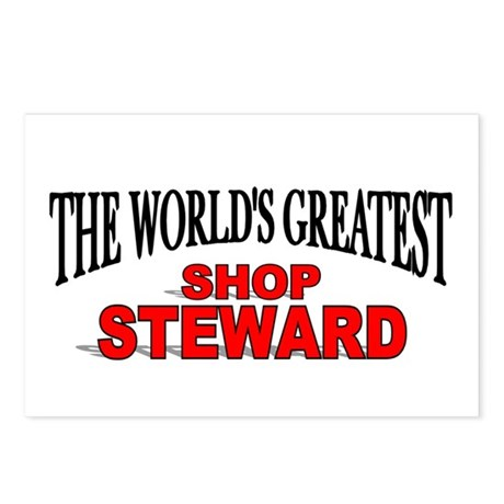 """The World's Greatest Shop Steward"" Postcards (Pac"