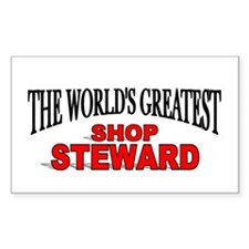 """The World's Greatest Shop Steward"" Decal"