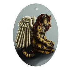 Her Prayer Ornament (oval)