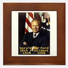 Gerald R. Ford 38th President Framed Tile