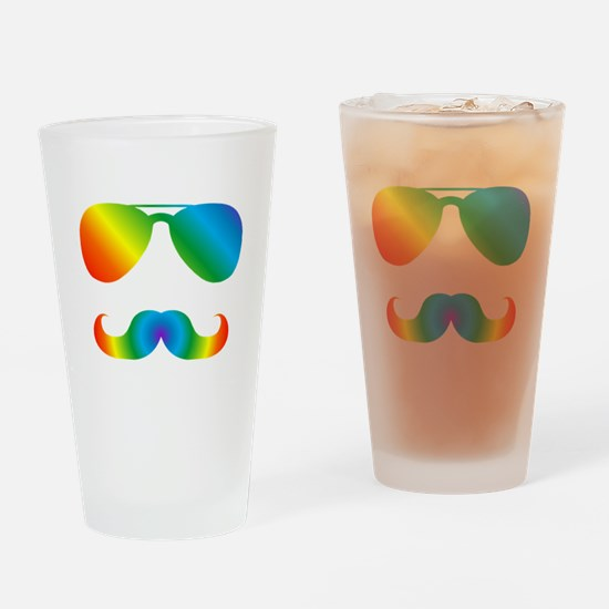 Funny Sunglasses Drinking Glass