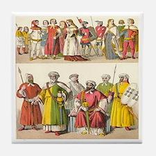 14th Century Spain Tile Coaster