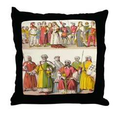 14th Century Spain Throw Pillow