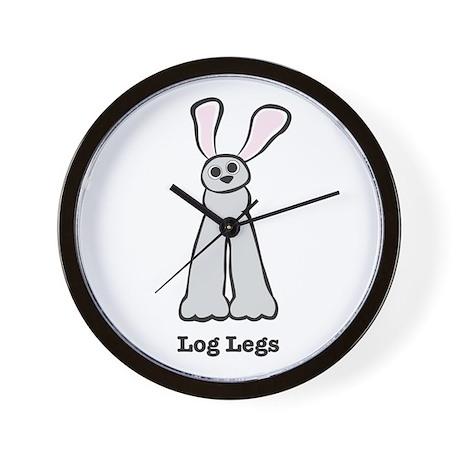 Bunny Log Legs Wall Clock