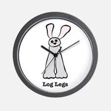 Bunny Log Legs Wall Clock