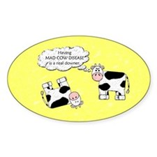 Downer Cow Oval Decal