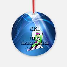 Top Ski New Hampshire Ornament (round)