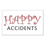 Happy Accidents Rectangle Sticker
