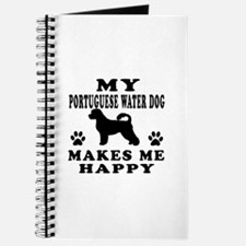 My Portuguese Water Dog makes me happy Journal