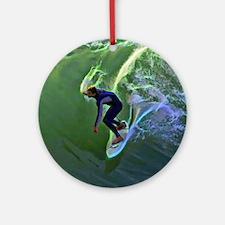 Surfing Art  Round Ornament