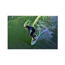 Surfing Art  Rectangle Magnet