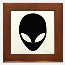 Alien silhouette Framed Tile